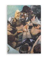Cкетчбук А5. Автор: Агнес Монтгомери; Картина: «Цифровой коллаж альбома Panda Bear — person pitch»