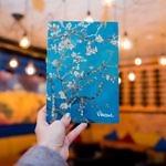 Купить блокнот для записей  А5 Van Gogh 1890 с картиной «Цветущие ветки миндаля»