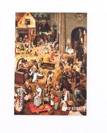 Купить скетчбук А5 Bruegel 1559 с картиной «Битва Масленицы и Поста»